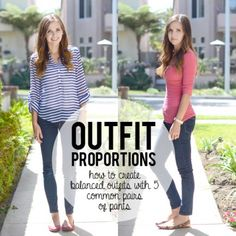 Outfit Proportions–Pants Edition: 5 Different Styles. Really practical & helpful stuff!