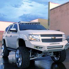 Lifted Chevy Tahoe, Lifted Chevy Trucks, Chevrolet Tahoe, Pickup Trucks, Suv Trucks, Chevrolet Silverado, Custom Truck Parts, Custom Trucks, My Dream Car
