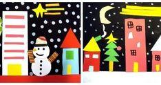 POBLET NEVAT- Curs 3r Us presento la postal de Nadal de tercer. Vaig suggerir als meus alumnes crear una escena d'hivern amb c...