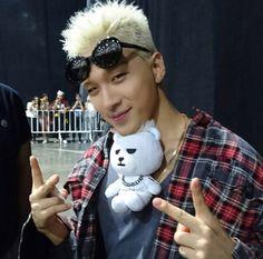 "thekoreanbigbang: ""Youngbae and his Krunk Bear ^^ "" Daesung, Gd Bigbang, G Dragon, Fandom, Krunk Bigbang, Kpop, Yg Artist, Gd And Top, Big Bang"