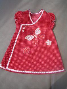wikkeljurkje voor Mila Girls Dresses Sewing, Little Girl Outfits, Little Girl Dresses, Kids Outfits, Sewing Kids Clothes, Baby Girl Dress Patterns, Baby Dress Design, Baby Girl Frocks, Kids Frocks