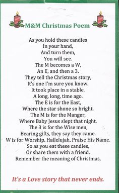 M&M Christmas story