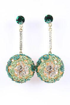 Green Bauble Earrings