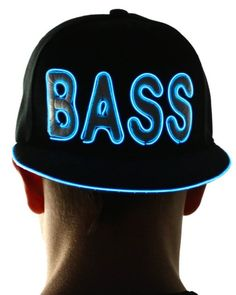 bf89878fc85 BASS Rave Hat by Electric Styles (Neon Blue) Rave Outfits Men