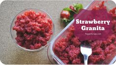 Strawberry Granita | Subscribe: http://youtube.com/PepperScraps