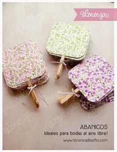 Abanicos - Casamientos y 15 años - lorenzadiseño.com