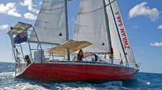 Laura Dekker's 38ft Jeanneau Gin Fizz ketch 'Guppy,' which she sailed around the world from 2011-2012