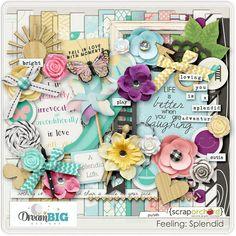 Quality DigiScrap Freebies: Hurry! Feeling: Splendid full kit freebie from Dream Big Designs