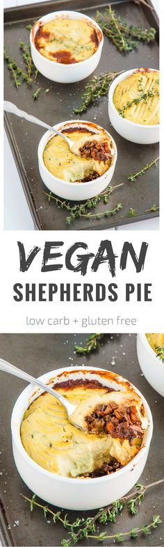 The British classic gets a makeover with mushrooms and cauliflower. This is a low carb vegan shepherds pie that the whole family will love! (Vegan Recipes)