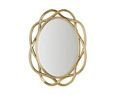 Miroir verre, doré et transparent - 6*127
