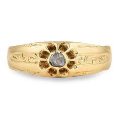 Elegant Vintage Victorian Engagement Ring Mabell