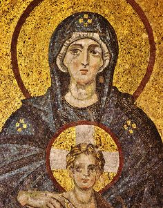 Istanbul: Hagia Sophia - Virgin and Child mosaic Religious Icons, Religious Art, Byzantine Art, Hagia Sophia, Religion, Art Icon, Orthodox Icons, Medieval Art, Sacred Art