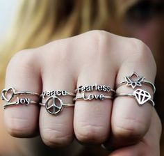Stacked Rings <3 ...Can I have them all...please?
