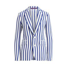 Buy Ralph Lauren Women's Blue Yvette Striped Silk Jacket, starting at $1990. Similar products also available. SALE now on!