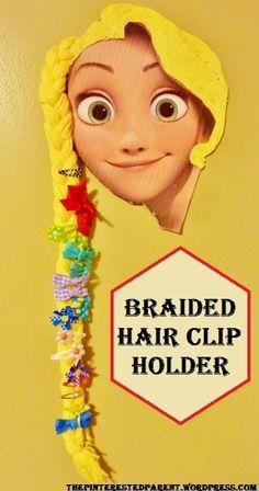 DIY Braided Hair Clip Holder