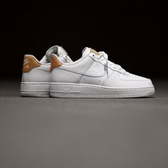 Nike Air Force 1 White/Vachetta . Disponible/Available: SNKRS.COM