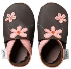 Bobux Chocolate Chocolate Daisy Soft Sole Baby Shoe $27.99 http://www.meandmyfeet.com/product/BX%20DCH #BabyShoe #Baby #Shoe #Chocolate #Daisy