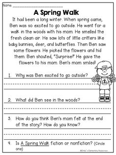 2nd Grade Reading Comprehension Worksheets Multiple Choice ...