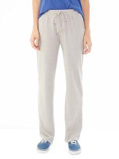 Easy Eco-Mock Jersey Straight Pants