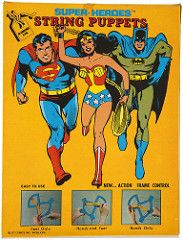 1978 Wonder Woman String Puppet - box back (Tom Simpson) Tags: wonderwoman toys vintage vintagetoys toy puppet comics dccomics 1978 1970s stringpuppet puppets batman superman