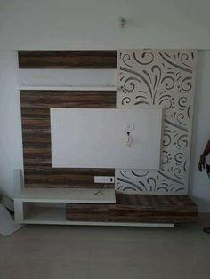 Wardrobe Design Bedroom, Bedroom Bed Design, Bedroom Furniture Design, Bedroom Designs, Tv Cabinet Design, Tv Wall Design, Door Design, Wall Mounted Tv Console, Lcd Panel Design