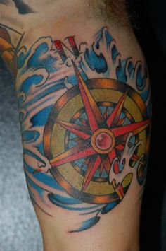 Compass Tattoo by Brian Joubert