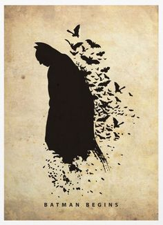 Sick Batman Silhouette by Marcus aka Posterinspired