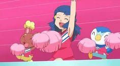 New party member! Tags: pokemon celebration celebrate cheer dawn cheerleader hooray go team piplup buneary