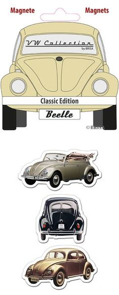 The Original VW Beetle Magnets-Classic Edition