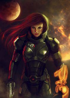 Mass Effect Fan Art by Suzanne van Pelt Mass Effect Games, Mass Effect 1, Mass Effect Universe, Science Fiction, Miranda Lawson, Female Armor, Commander Shepard, Comic, Dragon Age