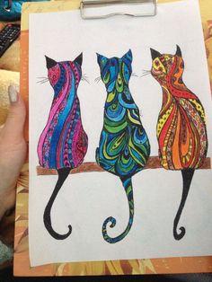 Best 12 – Page 493918284115679313 – SkillOfKing.Com - Art projects - - Katzen - Gatos Cat Quilt Patterns, Zentangle Patterns, Arte Country, Dot Art Painting, Cat Colors, Cat Drawing, Mandala Art, Animal Paintings, Fabric Art