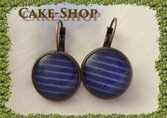 "B.O. cabochons 14mm ""nuances bleues & rayures"" de Cake shop - Bijoux gourmands sur DaWanda.com"