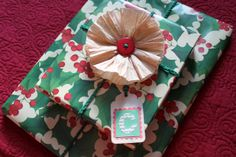 DIY coffee filter flower- perfect for making a package pretty that you have to send through the post- it won't get crushed and look awful after it arrives.