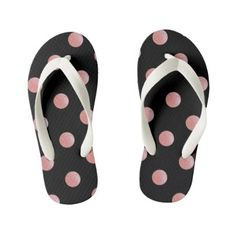 Watercolor Cute Polka Pink Dots Flip Flops Kids - baby gifts child new born gift idea diy cyo special unique design