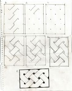 How to draw Celtic Knots : the rules a tutorial on drawing celtic knots Celtic Patterns, Doodle Patterns, Zentangle Patterns, Easy Patterns To Draw, Graph Paper Drawings, Graph Paper Art, Celtic Symbols, Celtic Art, Mayan Symbols