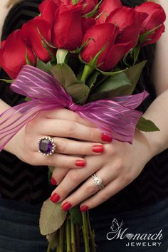 Shop now at local jeweler Monarch jewelry. Discover Winter Park & Orlando's best selection of engagement & wedding jewelry, and top designer fashion . Beautiful Rose Flowers, Red Flowers, Red Roses, Wedding Ring Bands, Wedding Jewelry, Flower Girl Photos, Red Nails, Be My Valentine, Class Ring