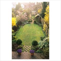 design for a long narrow garden google search - Garden Design Long Narrow