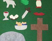 Felt bible story Easter banner