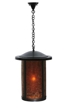 """18 Inch W Fulton Prime Hanging Lantern Pendant. 18 Inch W Fulton Prime Hanging Lantern Pendant Theme:   Product Family:  Fulton Prime Product Type:  CEILING FIXTURE Product Application:   Color:  AMBER MICA CRAFTSMAN Bulb Type: MED Bulb Quantity:  1 Bulb Wattage:  100 Product Dimensions:  32""""-100""""H x 17.5""""WPackage Dimensions:  NABoxed Weight:   lbsDim Weight:  96 lbsOversized Shipping Reference:  NAIMPORTANT NOTE:  Every Meyda Tiffany item is a unique handcrafted work of art. Natural..."""