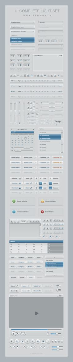 Complete Web User Interface Light Elements Set