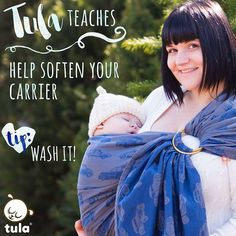 What is a simple way to soften your Tula ring sling or woven wrap? Washing it! The first wash will help your ring sling or wrap become much more moldable and fluid, making it glide more easily in to place. We recommend hand washing your ring sling, or using a garment bag if you decide to wash it in the washing machine. With all of our products, we recommend a cold, delicate cycle and air dry.  #tulateaches #tularingsling #tulawoven #babytula