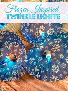 These Frozen Inspired Twinkle Lights can be made in just minutes!   Optimistic Mommy