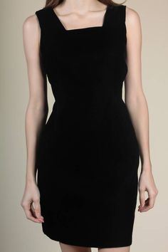 18473d4520 90s Low Back Velvet Dress - Medium