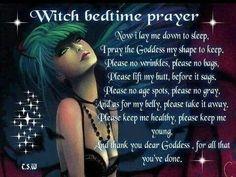 Witch bedtime prayer