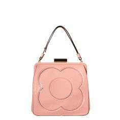 Orla Kiely | USA | Bags | SALE - Mainline | Patent Leather Holly Bag (14ABPAT019) | Shell Pink