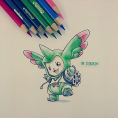 Digimon - Terriermon in a Rapidmon onesie by itsbirdy