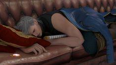 Sleeping Vergil. / Спящий Вёрджил. Vergil. Devil may cry 4: Special edition. Made in Blender.