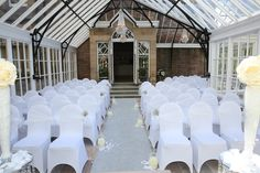 Restored Conservatory set up for a wedding Photo by Brian Muldoon Photography
