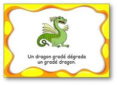 "Virelangue ""Un dragon gradé"" Ib Classroom, French Classroom, School Life, Pre School, School Organisation, French Resources, Cycle 3, French Quotes, Dragon"