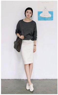 Trending Pencil Skirt Outfits Ideas for Work 38 Fashion Moda, Look Fashion, Womens Fashion, Moda Casual, Casual Chic, Casual Fridays, Modest Fashion, Fashion Outfits, Fashion Trends